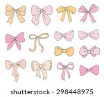 collection of hand drawn vector ... | Shutterstock .eps vector #298448975