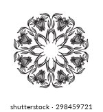 round frame with floral... | Shutterstock . vector #298459721