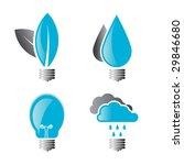 set of 4 environmental light... | Shutterstock .eps vector #29846680
