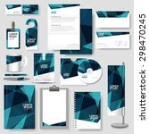 technology corporate identity... | Shutterstock .eps vector #298470245