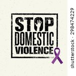 stop domestic violence stamp.... | Shutterstock .eps vector #298474229