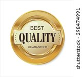quality golden badge | Shutterstock .eps vector #298474991