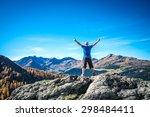 sense of freedom in the alps | Shutterstock . vector #298484411
