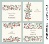 vector set   floral backgrounds.... | Shutterstock .eps vector #298487915