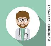 doctor digital design  vector... | Shutterstock .eps vector #298495775