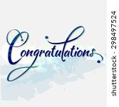 congratulations calligraphy in... | Shutterstock .eps vector #298497524