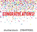 vector congratulations... | Shutterstock .eps vector #298499081