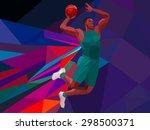polygonal geometric... | Shutterstock .eps vector #298500371