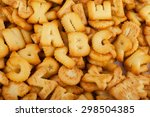 Alphabet For A Snack On White...