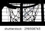 close up of basketball hood in... | Shutterstock . vector #298508765