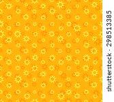 yellow sunny seamless pattern...   Shutterstock .eps vector #298513385