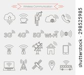 set of icons of wireless...