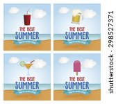abstract summer vacation... | Shutterstock .eps vector #298527371