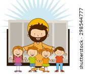 holy bible design  vector... | Shutterstock .eps vector #298544777