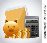 money concept design  vector... | Shutterstock .eps vector #298545257