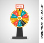fortune wheel  vector... | Shutterstock .eps vector #298556339