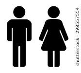 man and woman icons. restroom... | Shutterstock .eps vector #298557554
