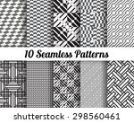 set of 10 abstract patterns.... | Shutterstock .eps vector #298560461