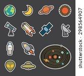 astronomy icon | Shutterstock .eps vector #298564907