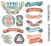 vintage banners  ribbons ... | Shutterstock .eps vector #298569701