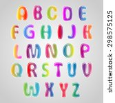 multicolored font  set of... | Shutterstock .eps vector #298575125