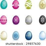 old style easter egg set 2 | Shutterstock .eps vector #29857630