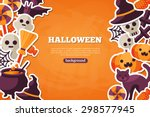 halloween concept banner with... | Shutterstock .eps vector #298577945