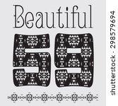 'beautiful'  artwork for girls...   Shutterstock . vector #298579694