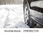 Driving Suv Car In Winter On...