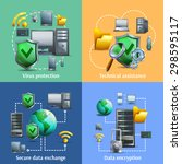 data encryption security and... | Shutterstock .eps vector #298595117