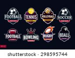 mega set of colorful sports... | Shutterstock .eps vector #298595744