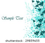 vector floral background | Shutterstock .eps vector #29859655