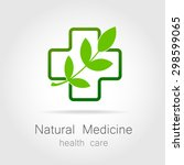 natural medicine   a sign of... | Shutterstock .eps vector #298599065