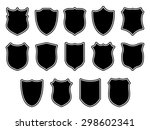 large set of shields with... | Shutterstock . vector #298602341