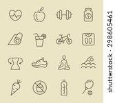 fitness icon set | Shutterstock .eps vector #298605461