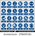 set of safety and health... | Shutterstock .eps vector #298609181