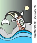 killer whale diving into the... | Shutterstock .eps vector #29860975