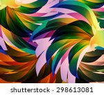 beautiful abstract design... | Shutterstock . vector #298613081