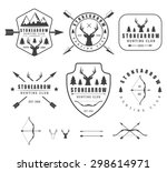 set of vintage hunting labels ... | Shutterstock . vector #298614971
