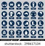 set of safety equipment signs.... | Shutterstock .eps vector #298617134