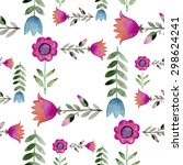 seamless pattern consisting of... | Shutterstock .eps vector #298624241