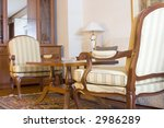 hotel suite room showing the...   Shutterstock . vector #2986289