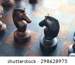 dispute face to face in chess. | Shutterstock . vector #298628975