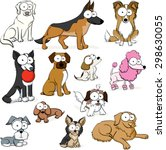 googly eyed dogs | Shutterstock .eps vector #298630055