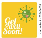 get well soon over color... | Shutterstock .eps vector #298636859
