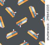 pet cat litter box flat icon ... | Shutterstock .eps vector #298641035
