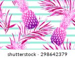 tropical palm leaves and... | Shutterstock .eps vector #298642379