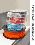 various 3d printer filaments at ... | Shutterstock . vector #298648151