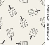 tag doodle seamless pattern... | Shutterstock .eps vector #298648529