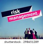 risk management investment... | Shutterstock . vector #298651289